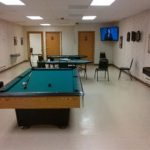 Recreation room at 12 Mile Lodge